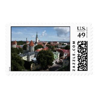 Pueblo medieval, sello de Tallinn, Estonia