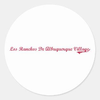 Pueblo New México Clas del De Albuquerque de los Pegatina Redonda
