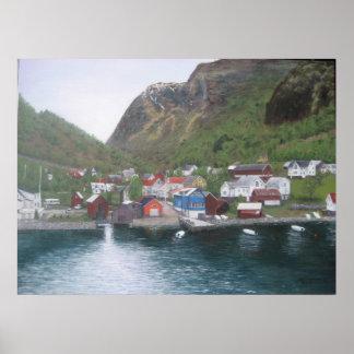 Pueblo noruego poster