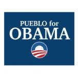 PUEBLO para el personalizado de Obama su ciudad pe Tarjeta Postal