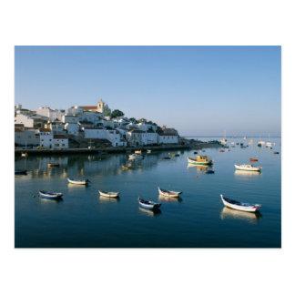 Pueblo pesquero de Ferragudo, Algarve, Portugal 2 Tarjeta Postal