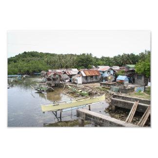 Pueblo pesquero del Visayan Impresión Fotográfica