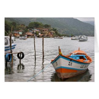 Pueblo pesquero tarjeta de felicitación