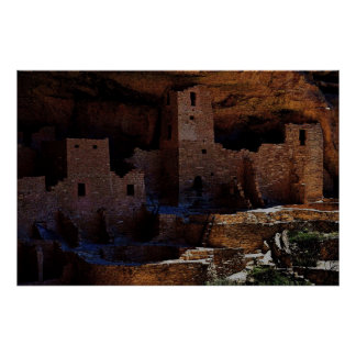 Pueblo Ruins 36 x 24 Poster