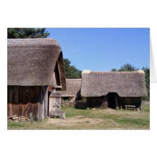 Pueblo sajón Anglo del arrumage del oeste, Tarjeta De Felicitación