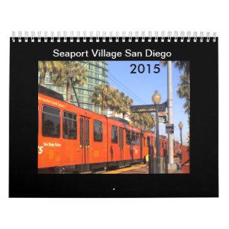 Pueblo San Diego 2015 del puerto Calendarios De Pared