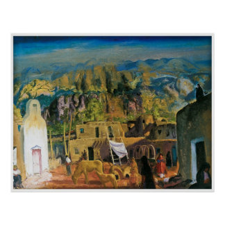 Pueblo, Tesuque, Number One by George Bellows 1917 Poster