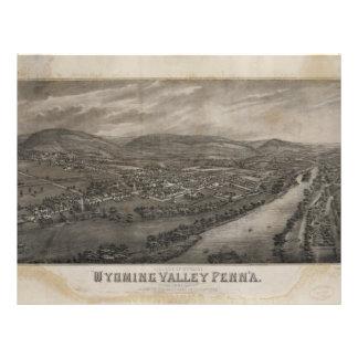 Pueblo valle Pennsylvania de Wyoming, Wyoming Plantillas De Membrete