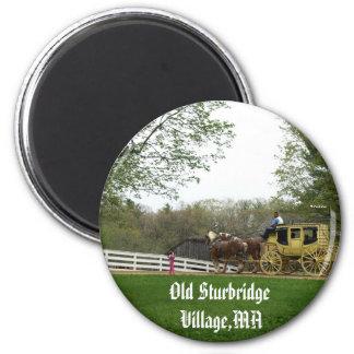Pueblo viejo de Sturbridge Imán Redondo 5 Cm