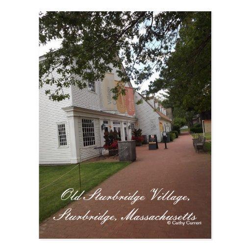 Pueblo viejo de Sturbridge Tarjeta Postal