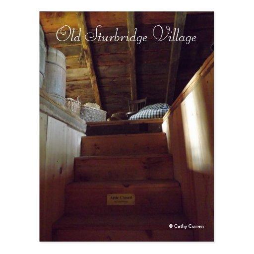 Pueblo viejo de Sturbridge Tarjetas Postales