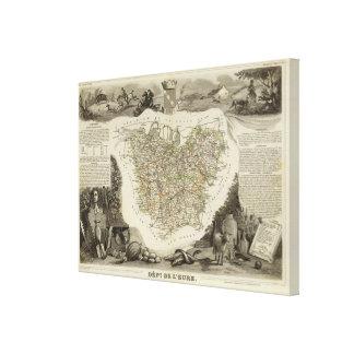 Pueblo y ciudades impresión en lona estirada