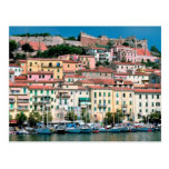 Pueblo y puerto de Italia de la costa de mar Medit Postal