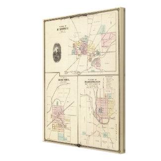 Pueblos de Platteville, de Boscobel y de Darlingto Lona Envuelta Para Galerías