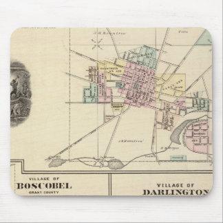 Pueblos de Platteville, de Boscobel y de Darlingto Tapete De Ratón