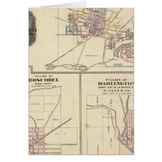 Pueblos de Platteville, de Boscobel y de Darlingto Tarjetón