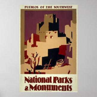 Pueblos del sudoeste poster
