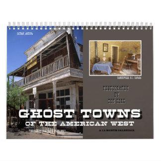 Pueblos fantasmas del oeste americano calendario