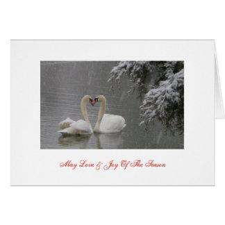 Puede amar y la alegría de la estación tarjeta de felicitación