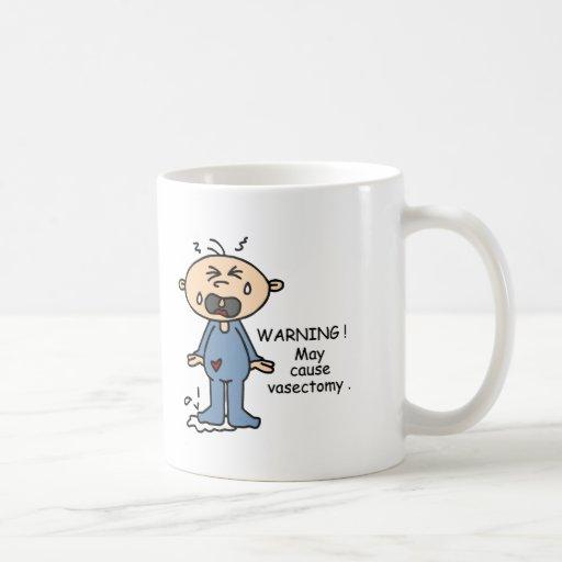 Puede causar al bebé de la vasectomía (azul) tazas