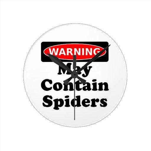 Puede contener arañas reloj redondo mediano