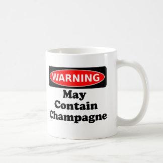Puede contener Champán Taza Básica Blanca