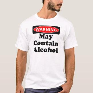Puede contener el alcohol playera