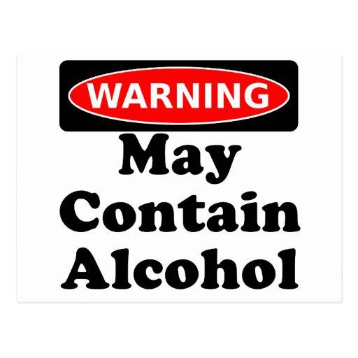 Puede contener el alcohol postal