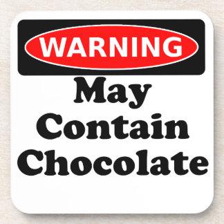 Puede contener el chocolate posavasos
