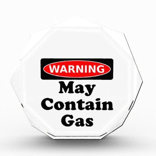 Puede contener el gas