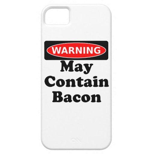 Puede contener el tocino iPhone 5 carcasa