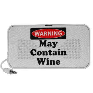 Puede contener el vino iPod altavoces