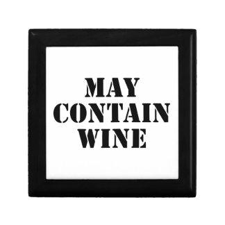 Puede contener el vino cajas de joyas
