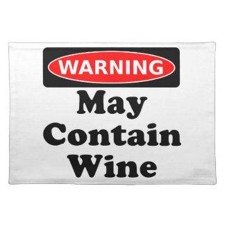 Puede contener el vino mantel individual