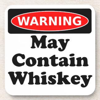 Puede contener el whisky posavasos
