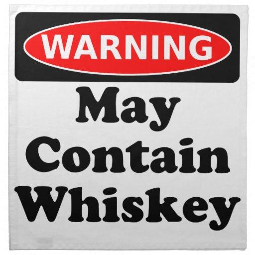 Puede contener el whisky servilletas imprimidas