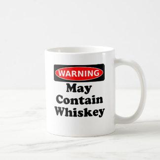 Puede contener el whisky taza básica blanca