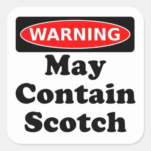 Puede contener escocés calcomanía cuadradas