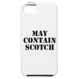 Puede contener escocés iPhone 5 protector