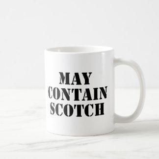 Puede contener escocés taza básica blanca