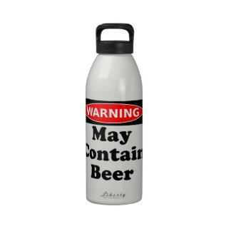 Puede contener la cerveza botella de agua