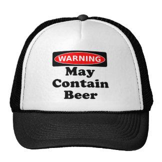 Puede contener la cerveza gorros bordados