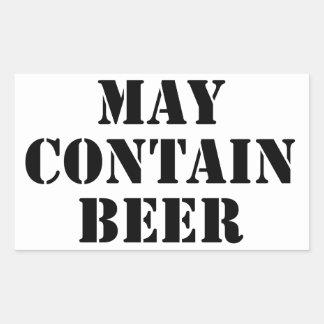 Puede contener la cerveza pegatinas