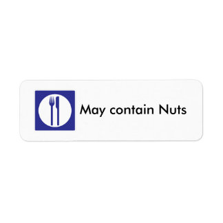 Puede contener la etiqueta de las nueces etiqueta de remitente