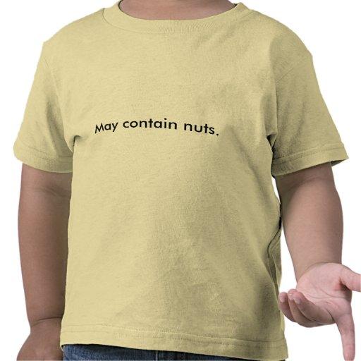 Puede contener nueces camisetas