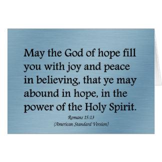 Puede dios darle esperanza, alegría, y 15:13 de lo felicitación