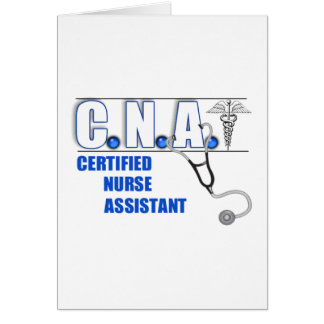 PUEDE el ayudante de la enfermera certificada con  Tarjeta De Felicitación