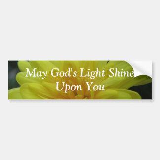 Puede el brillo ligero de dios sobre usted… Pegati Etiqueta De Parachoque