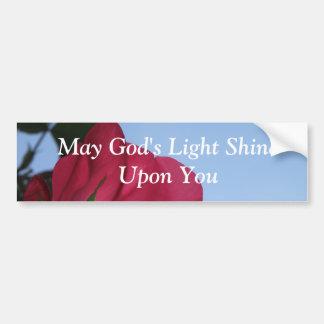 Puede el brillo ligero de dios sobre usted… Pegati Pegatina De Parachoque