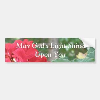 Puede el brillo ligero de dios sobre usted… Pegati Pegatina Para Auto